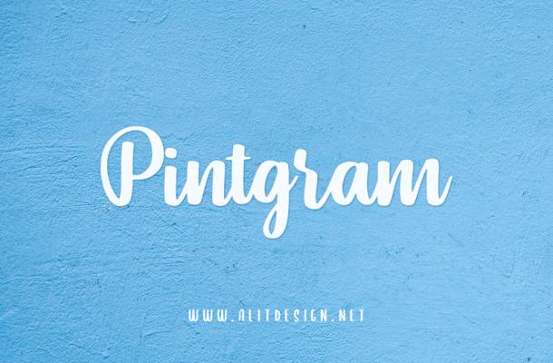 Pintgram font