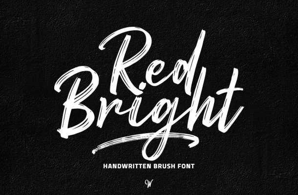 Red Bright Brush Font