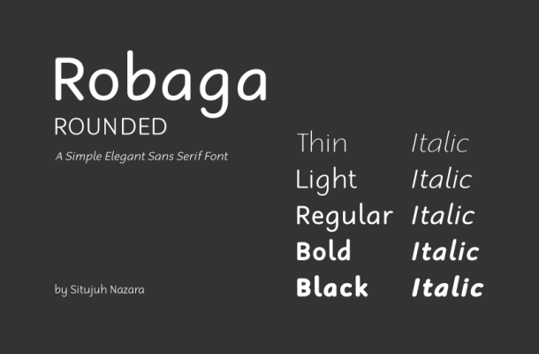 Robaga Rounded font