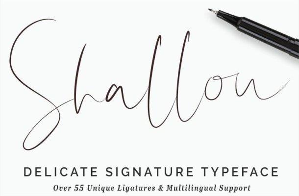 Shallou Signature Font