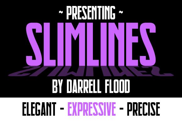 Slimlines font