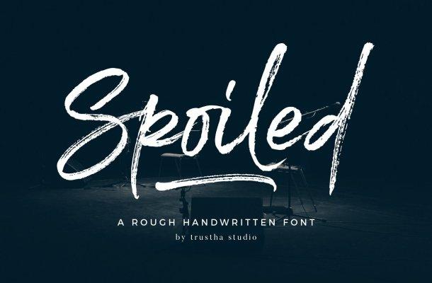 Spoiled Brush Font