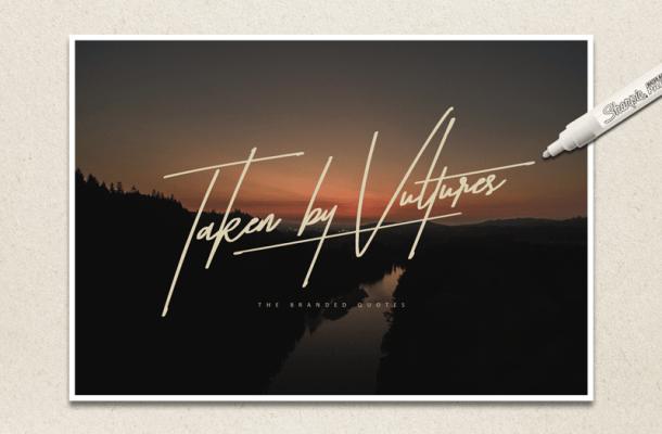 Taken by Vultures font