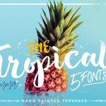 The Tropical Script Font
