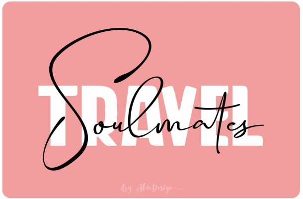 Travel Soulmates Font Duo