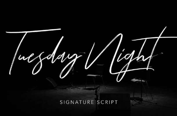 Tuesday Night Script Font