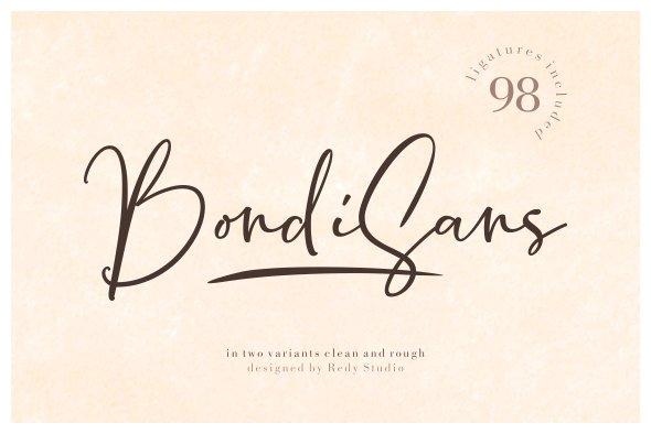 BondiSans Script Font