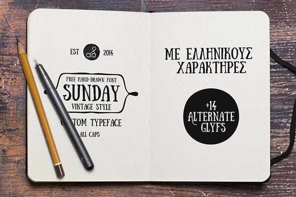 Sunday Font Style