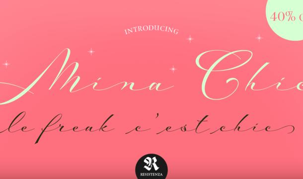 Mina Chic font