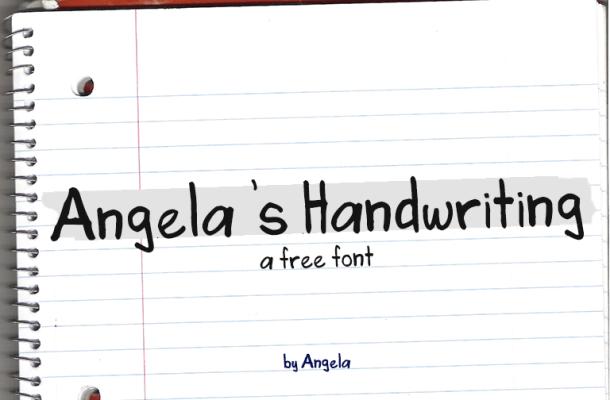 Angela's Handwriting Font