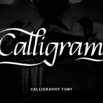 Calligram Calligraphy Font