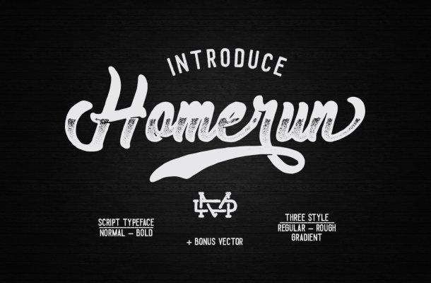 Homerun Script Font