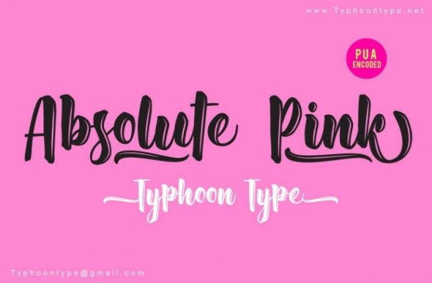 Absolute Pink Script Font
