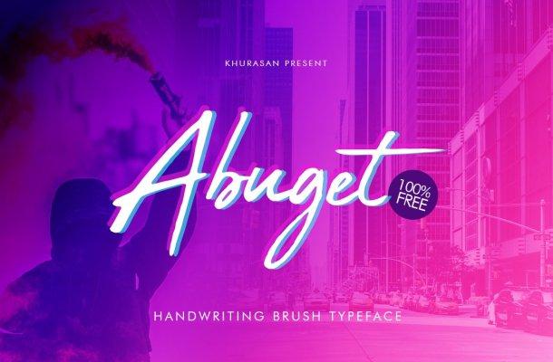 Abuget Brush Font
