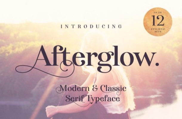 Afterglow Typeface