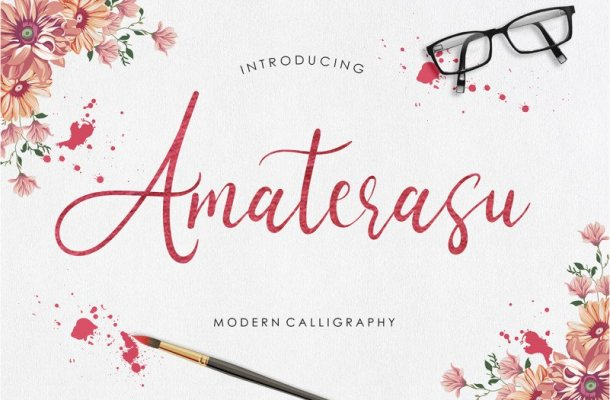 Amaterasu Calligraphy Font