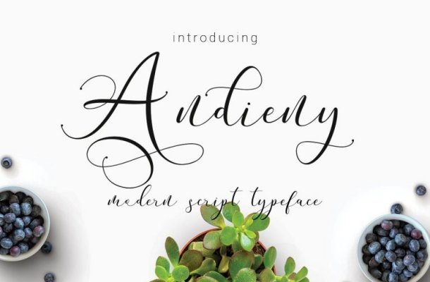 Andieny Script Font