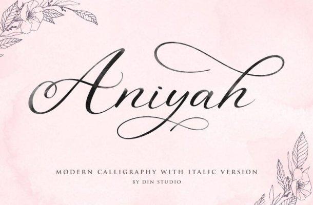 Aniyah Calligraphy Font