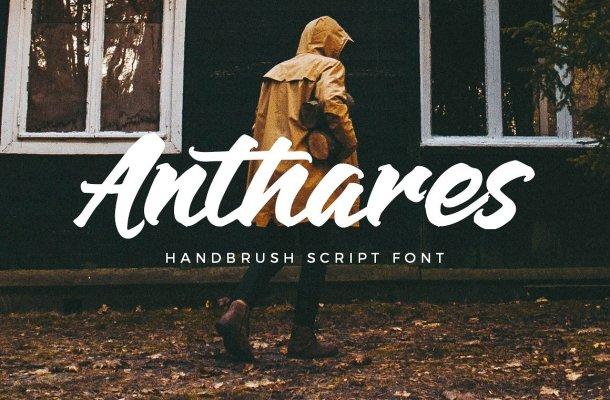 Anthares Handbrush Font