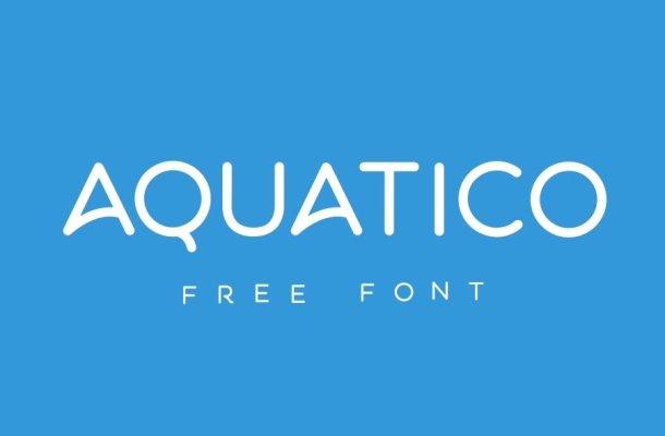 Aquatico Free Animated Font