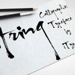 Aring – calligraphic typeface