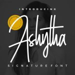 Ashytha Signature Font