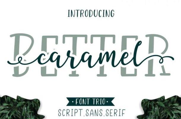 Better Caramel Font Family