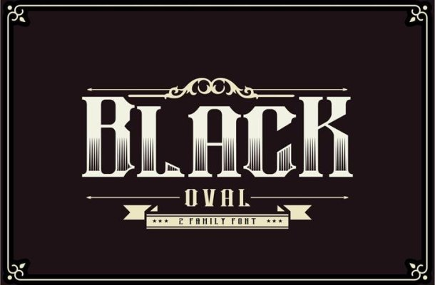 Black Oval Typeface
