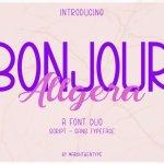 Bonjour Allgera Font Duo