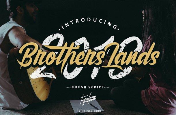 Brother Lands Script Font