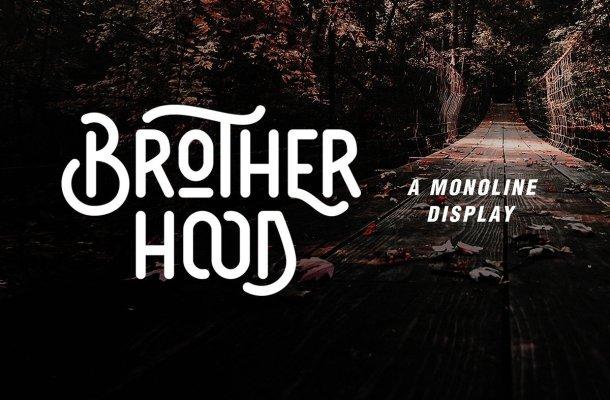 Brotherhood Display Font