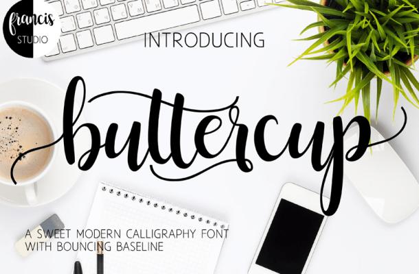 Buttercup Script Font