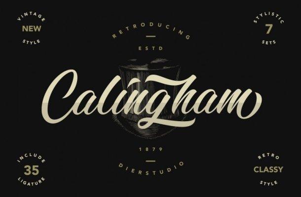 Calingham Calligraphy Font