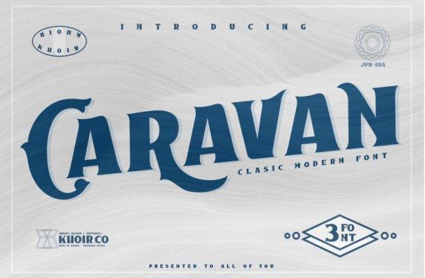 Caravan Display Font