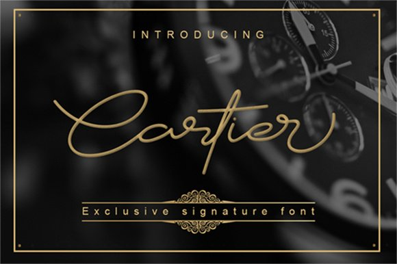 Cartier Script Font