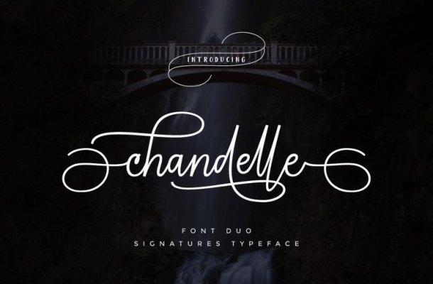 Chandelle Signature Font