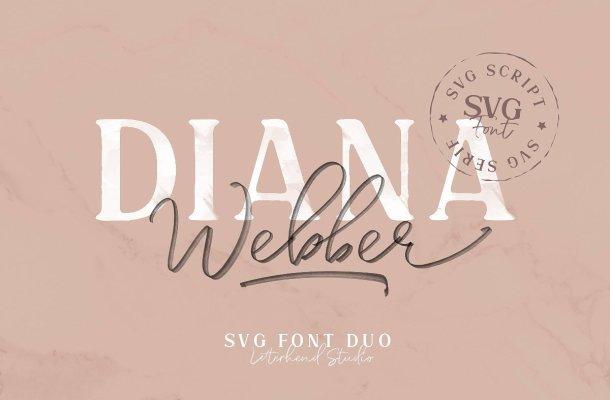 Diana Webber SVG Font Duo