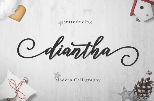 Diantha Script Font