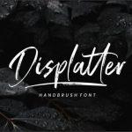 Displatter Handbrush Font