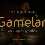 Gamelan Typeface