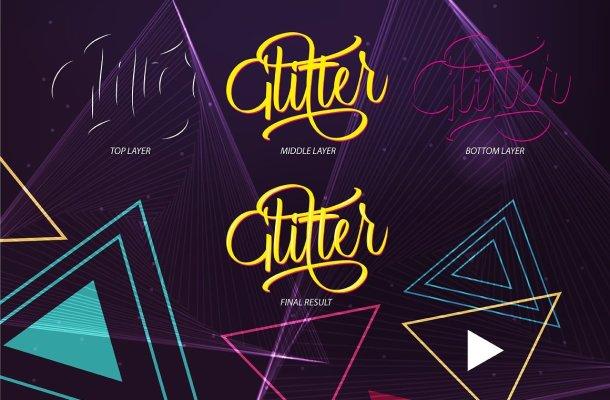 Glitter Script Font
