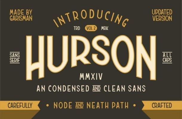 Hurson Clean Typeface