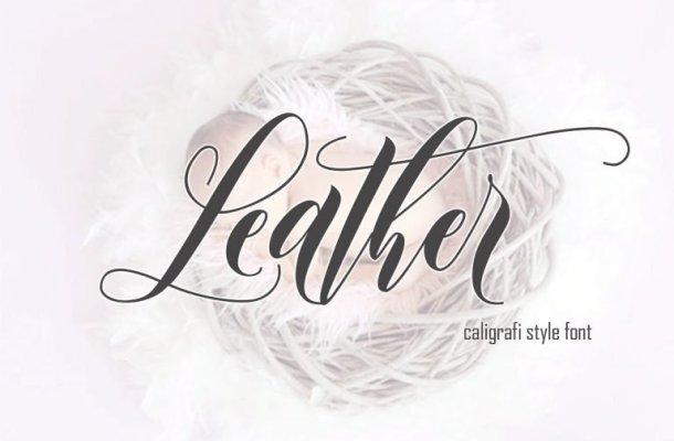 Leather Script Font