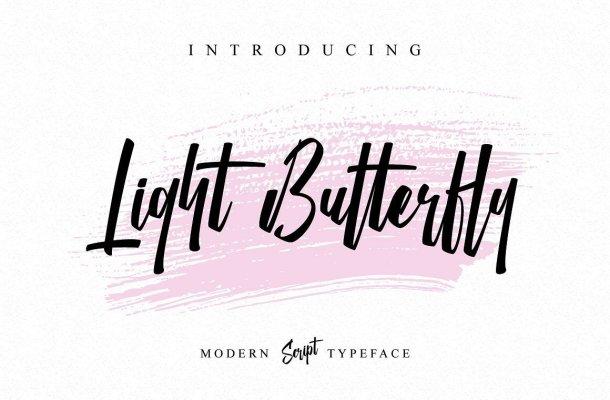 Light Butterfly Script Font