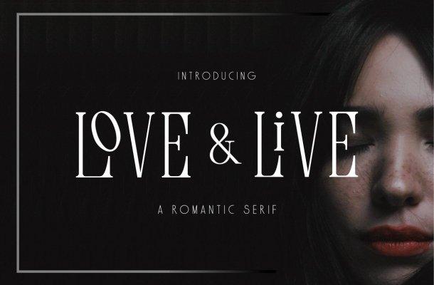 Love & Live Typeface