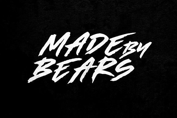 Made By Bears Brush Font