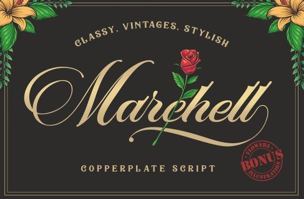 Marchell Script Font