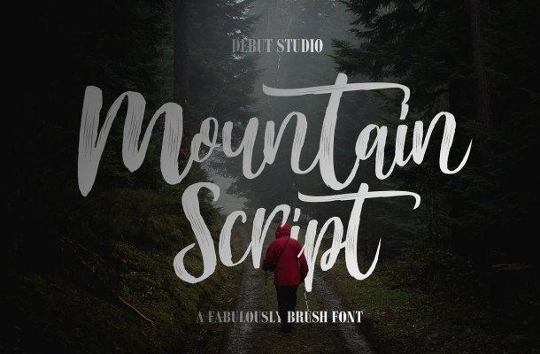 Mountain Brush Font