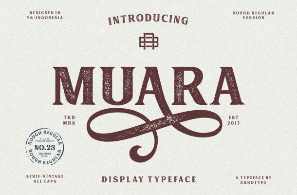 Muara Rough Typeface
