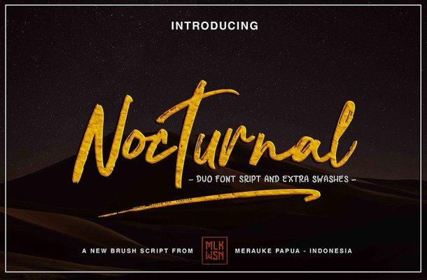 Nocturnal Brush Font